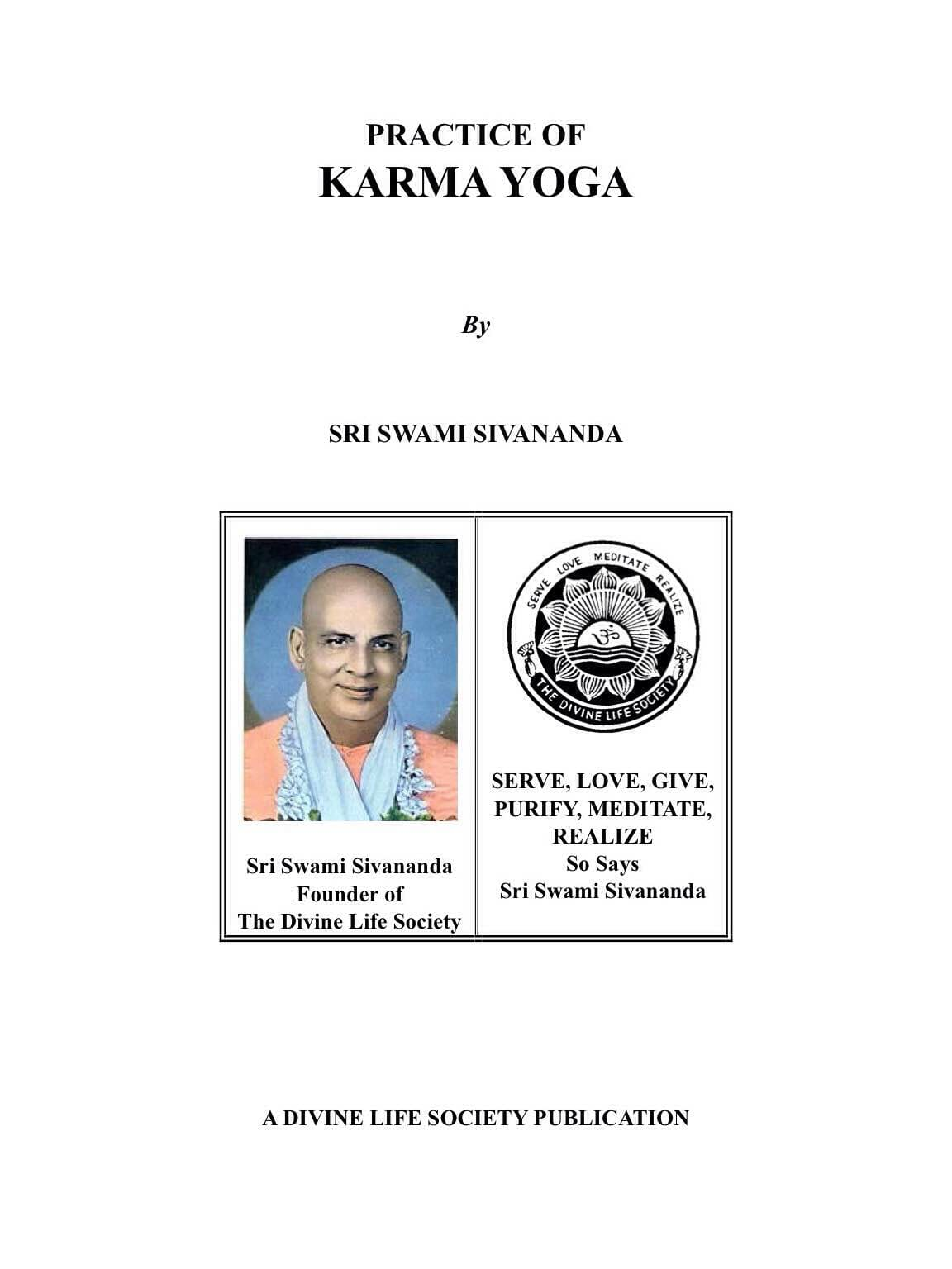 Practice of Karma Yoga</br>(In English)