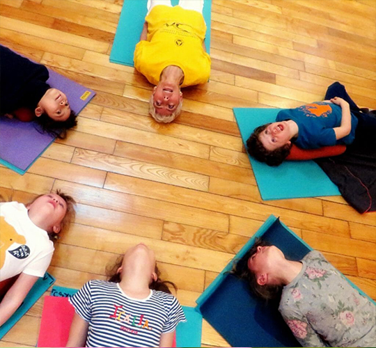 "<div style=""line-height: 1.3; color: #b04640; font-family: catamaran;""> Further Training for Yoga Teachers:<span style=""display: inline-block;""> How to Teach Yoga </br>to Children </span></div>"